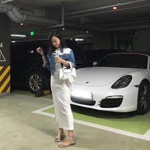 Korean IG Market Sleeveless Long Dress Slit Summer